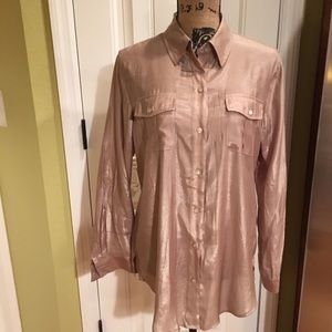 NWT Tunic top Chico's size 1  or Med Shimmer Taupe
